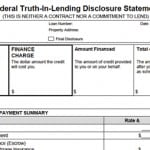 "The ""Truth In Lending Form"" Defined"